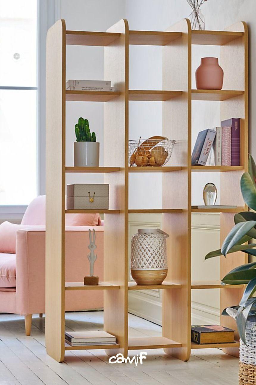 camif bibliotheque salon decoration