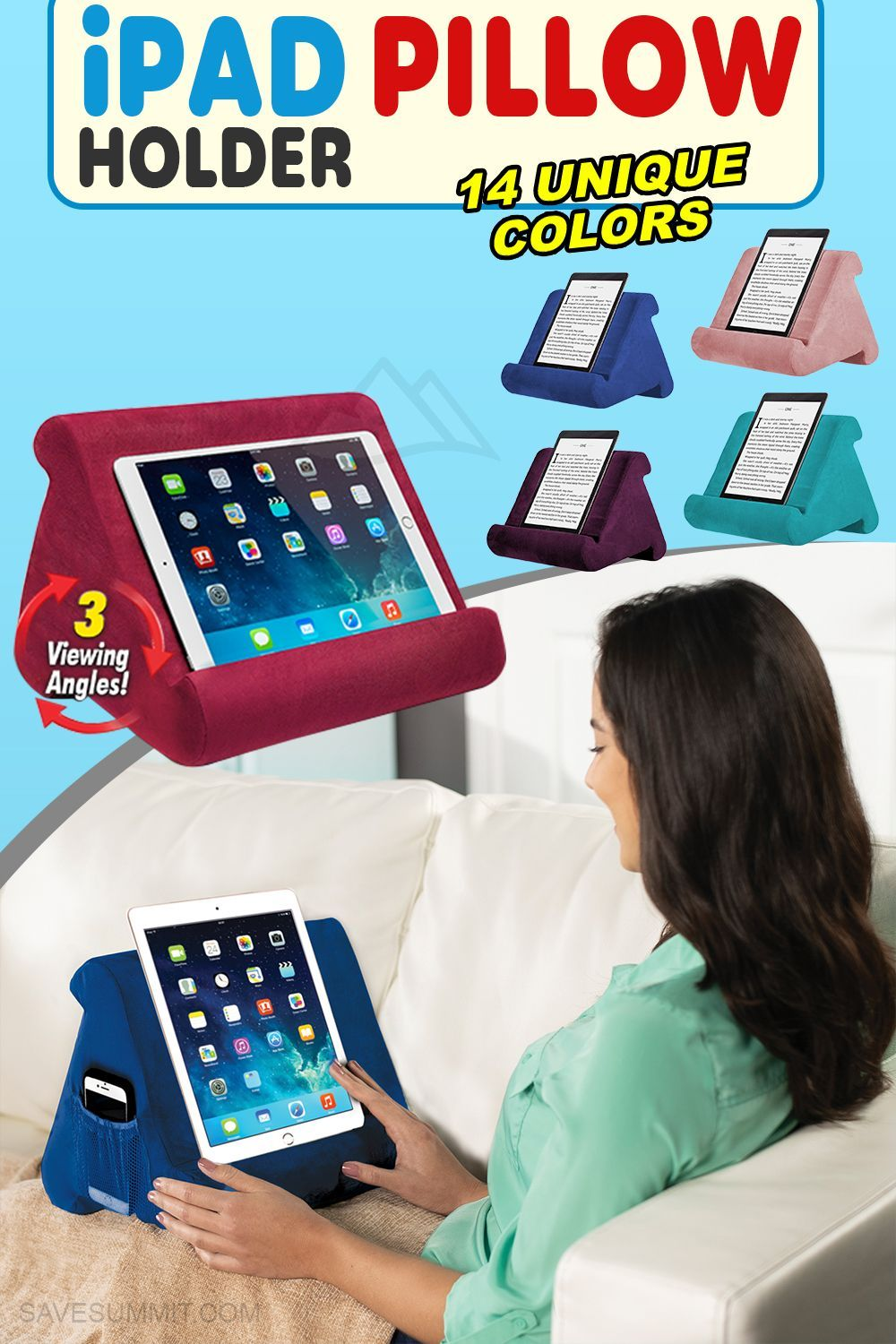 tablet lap pillow pad stand tablet