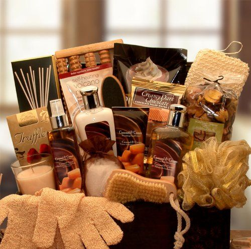 Caramel And Creams Relaxation Gift Basket For Her Find Out More