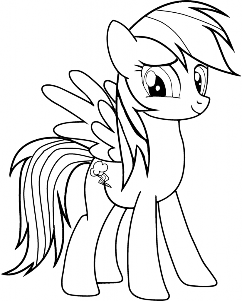 Rainbow Dash Coloring Pages | Cartoon Coloring Pages | Pinterest ...