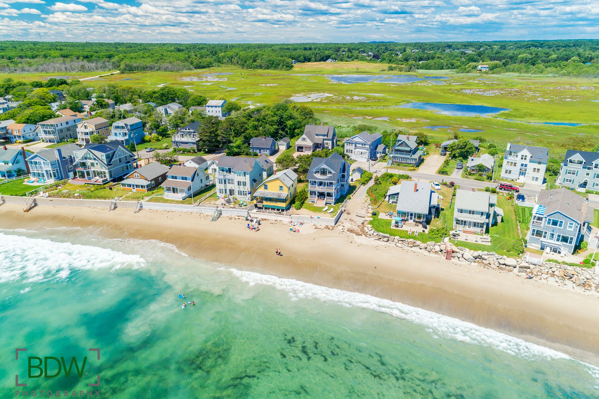 Moody beach wells maine maine drone photography bdw