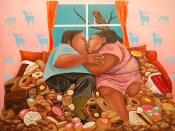"""""""Sweet Embrace"""" by Jackie Traverse (Anishinaabe from Lake St. Martin First Nation)"""