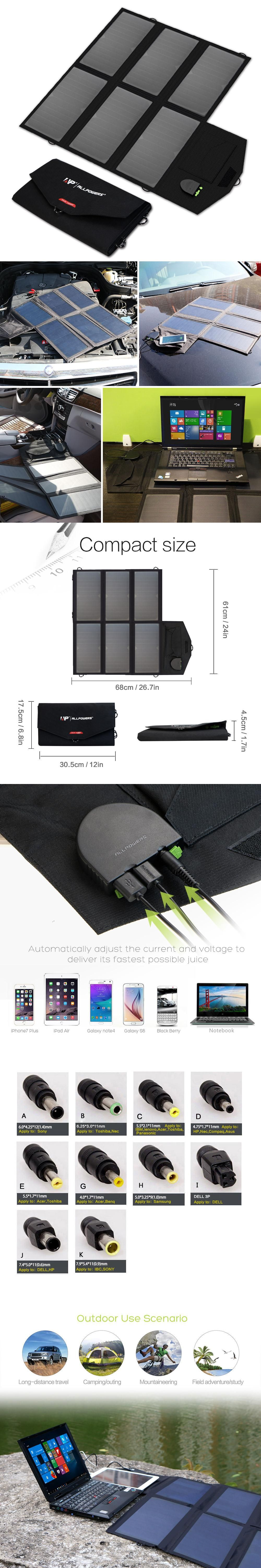 dual usb dc portable solar charger foldable solar panel charger for