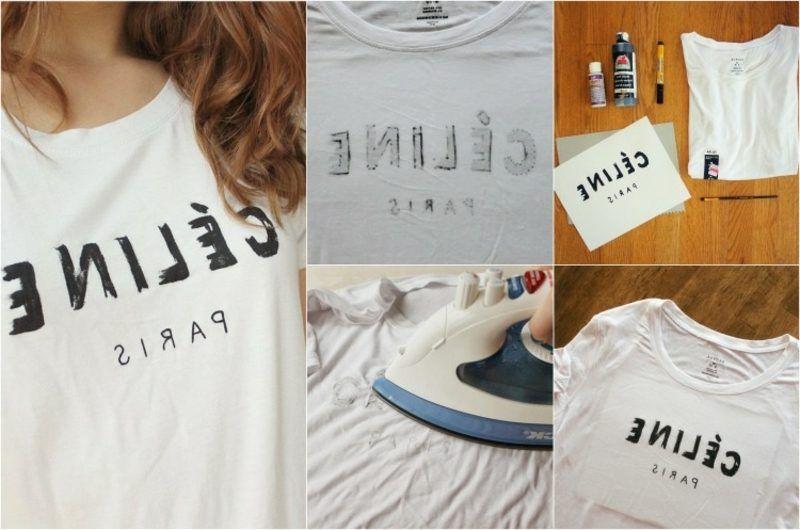 t shirts selbst bedrucken anleitung fur anfanger bemalen siebdruck vorlage