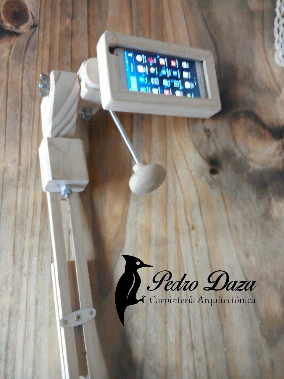 Accesorio Para Grabar Videos Con Telefono Celular Graduable Madera Pino Carpinteria Electronic Products Bathroom Scale