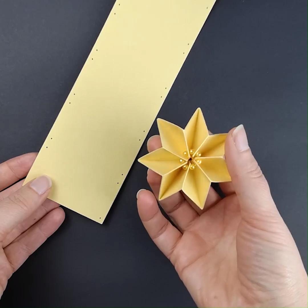 Plissee-Sterne falten - Anleitung, Vorlage