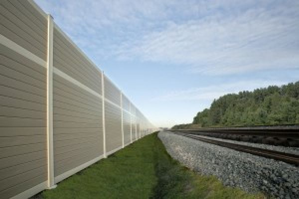 Acoustic sound barrier walls are complete wall systems