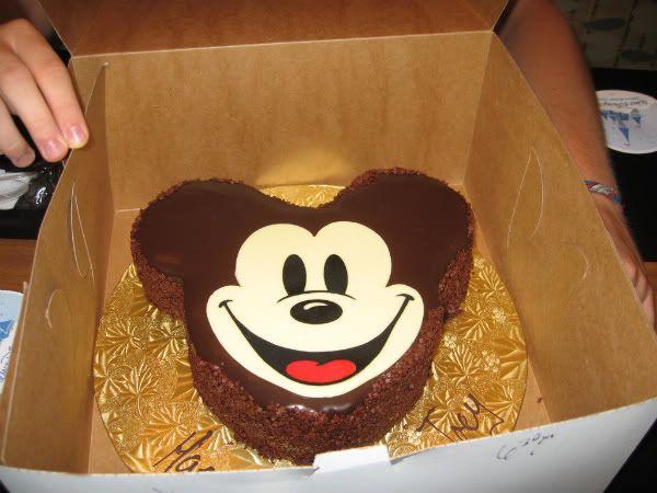 Awesome Mickey Mouse Birthday Cake From Walt Disney World Disney World Funny Birthday Cards Online Bapapcheapnameinfo