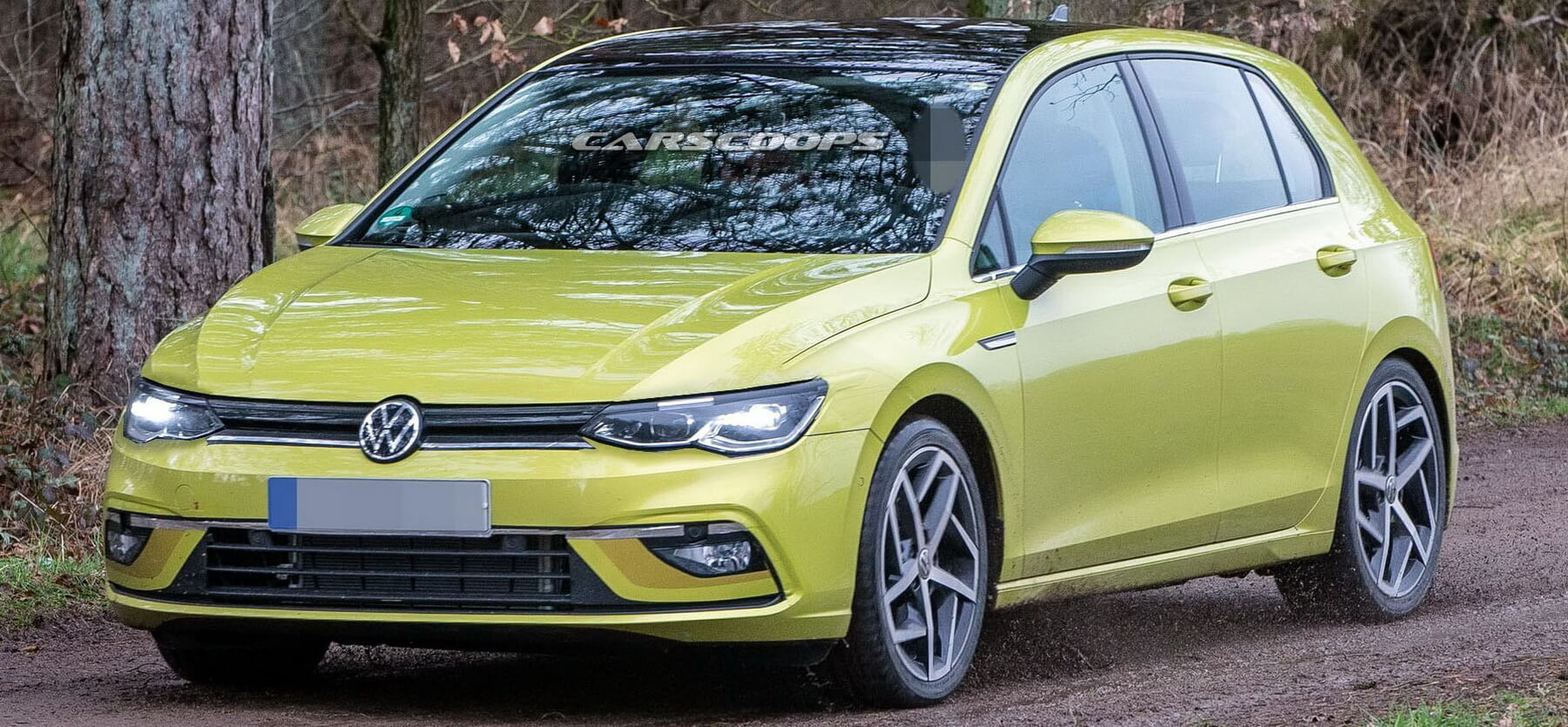 2020 Volkswagen Golf Mk8 Photographed Virtually Undisguised From All Angles Carscoops Volkswagen Golf Volkswagen Golf R Volkswagen