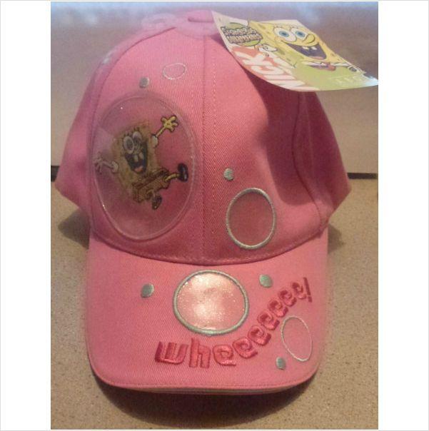 6cd5b058480 NICKELODEON SPONGEBOB GIRLS BASEBALL CAP HAT~NEW~CHILD HAT~VELCRO  STRAP~PINK 884392553555 on eBid United States