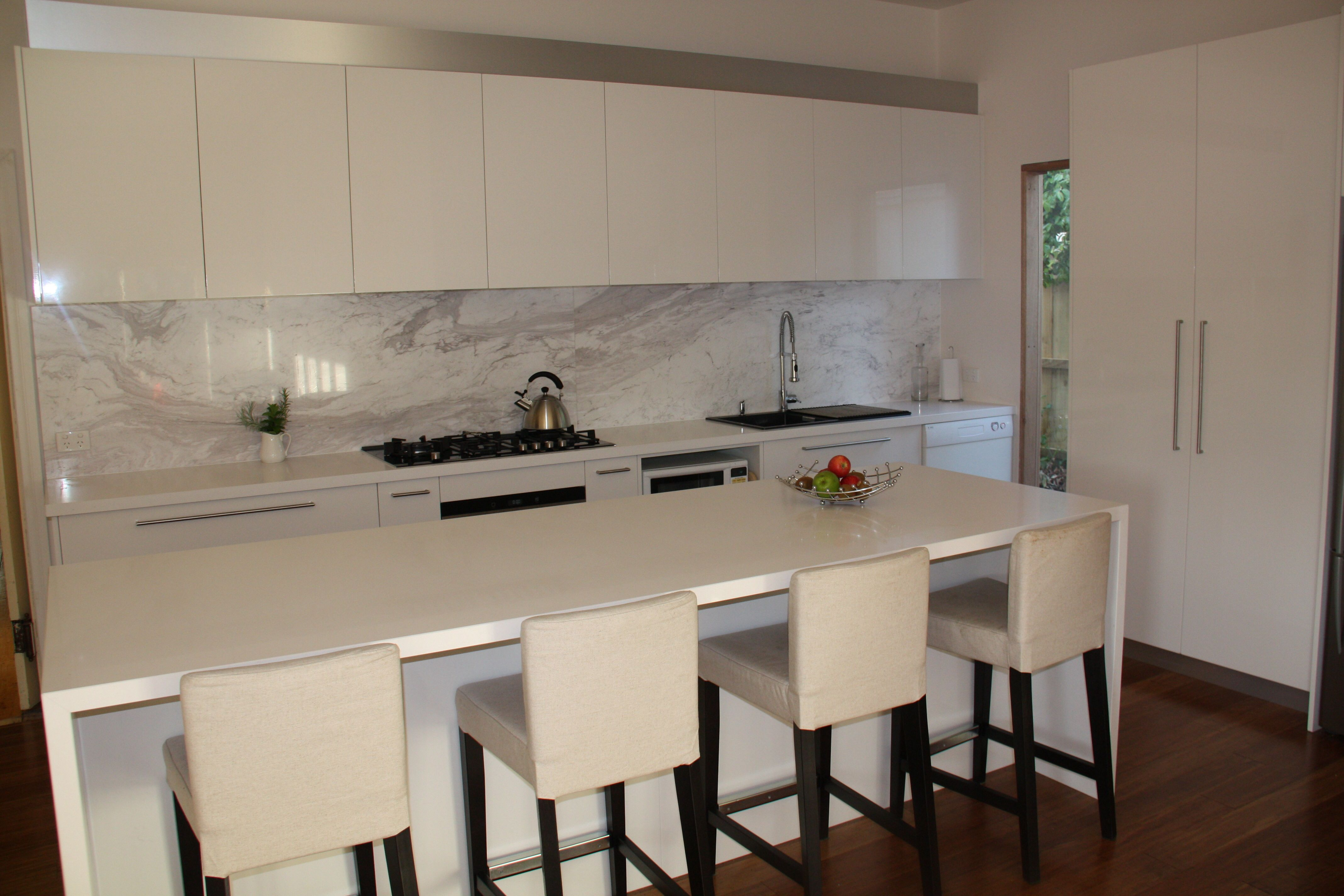 Marble Floors In Kitchen Kitchen Inspo Marble Look Splashback Kitchen Reno Pinterest
