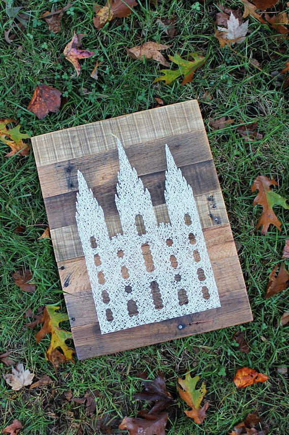 Mormon Temple Salt Lake City String Art Sign-LDS Wall Art-Baptism ...