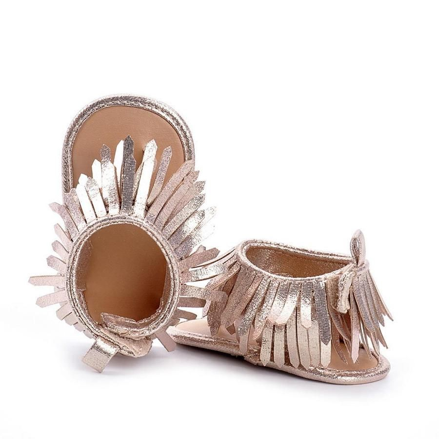 9d89c1150c004 Fringed sandals | Baby girl shoes | Baby sandals, Childrens shoes ...
