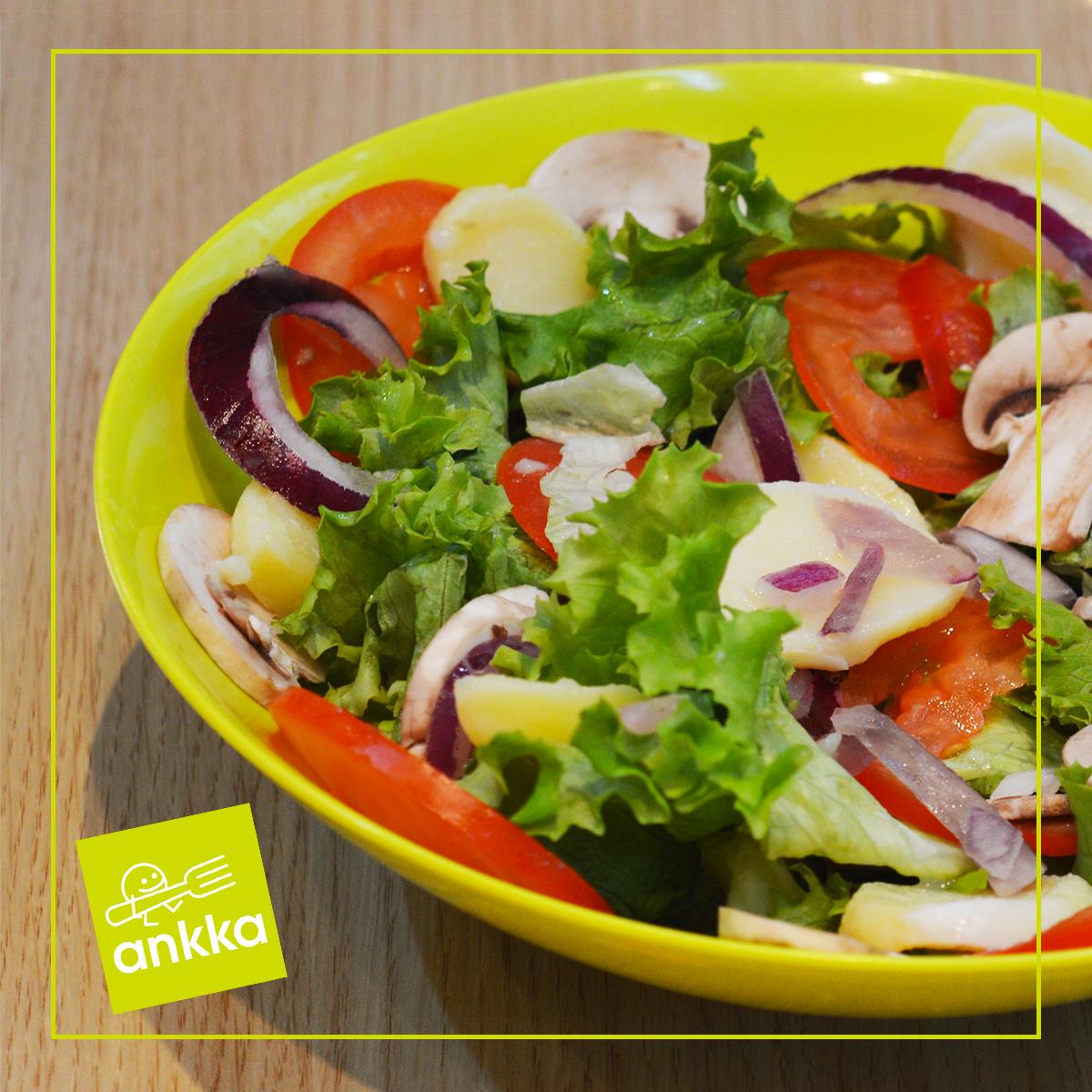 La salade du mois de novembre des ingr dients frais - Salade de champignons frais ...