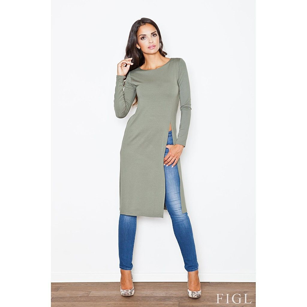 Side Slit Long Tunic Top | Products | Pinterest | Products