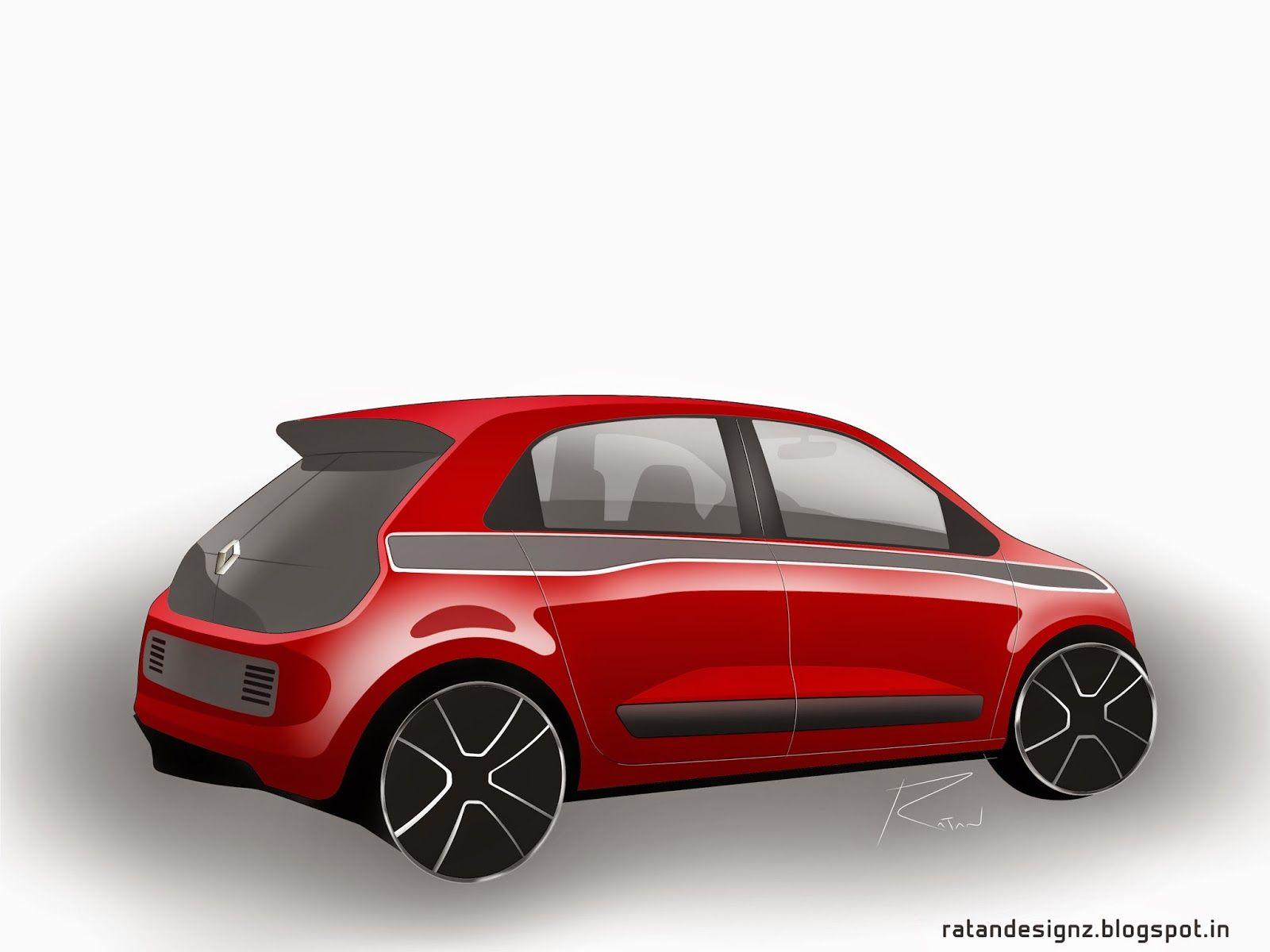 Renault Twingo Concept Design Sketch Digital Render Car Design