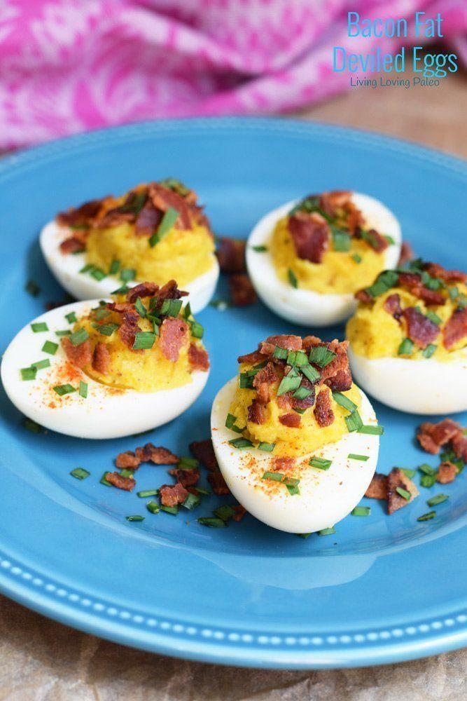 Bacon Fat Deviled Eggs #deviledeggs
