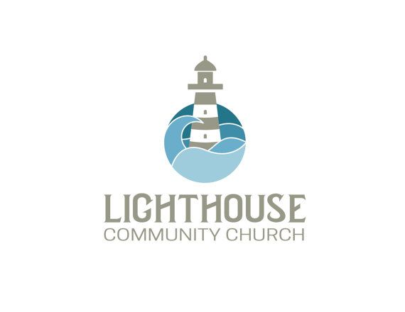 Premade Logo. Church Logo. Lighthouse Design by JustAddTeaDesigns