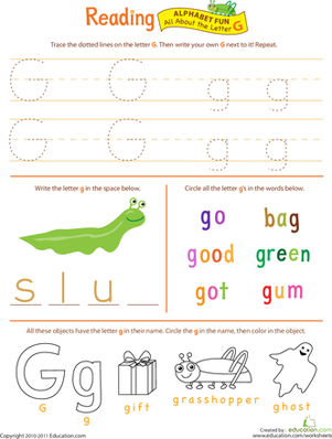 Worksheets Letter G Worksheets For Kindergarten practice tracing the letter g preschool worksheets and get ready for reading all about g