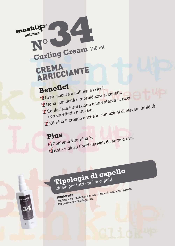 Mashup Haircare N°34Curling Cream. Crea, separa e ...