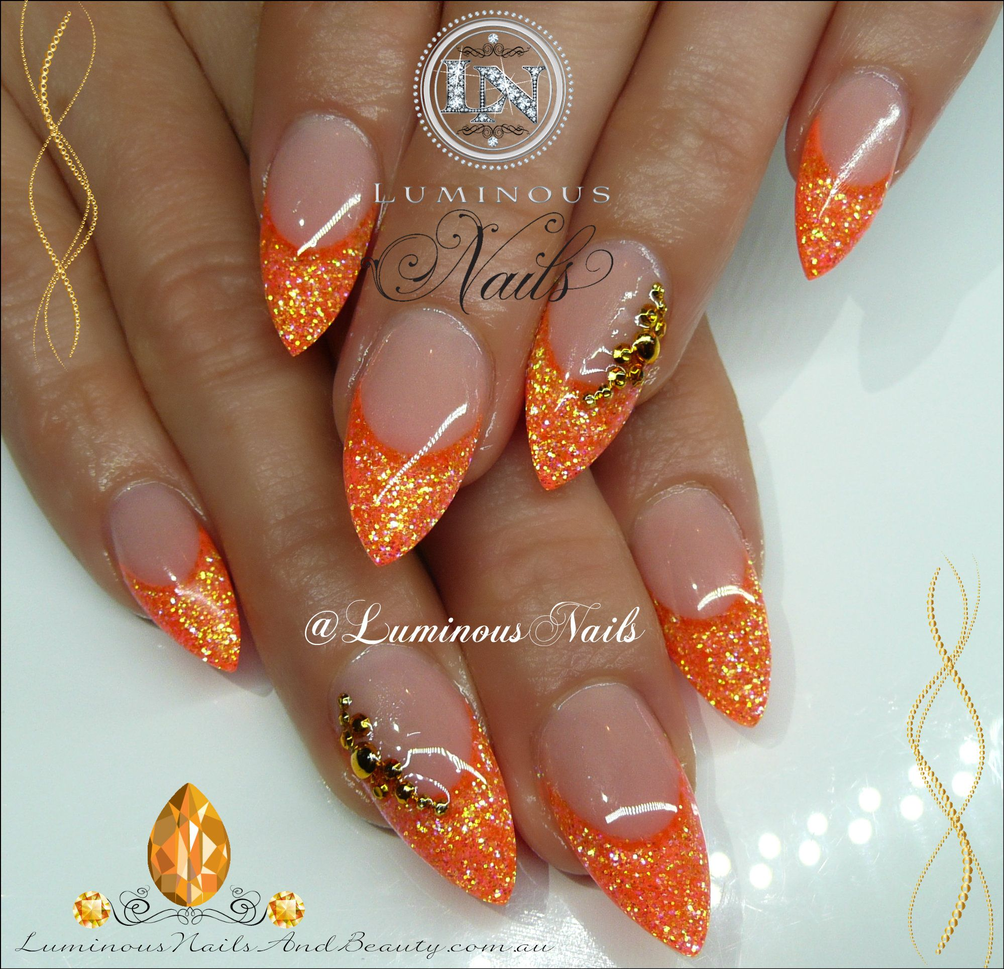 Neon Orange Nails... | Nails - Halloween, Goth, Rock, Fall ...