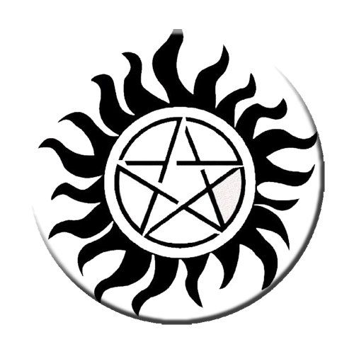 Supernatural Demon Protection Symbol Pinback Button Geek Details