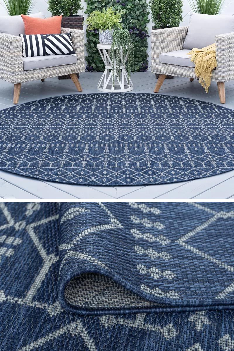 10 Ideas For Including Blue Rugs In Any Interior Blue Rug Blue Round Rug Modern Round Rugs