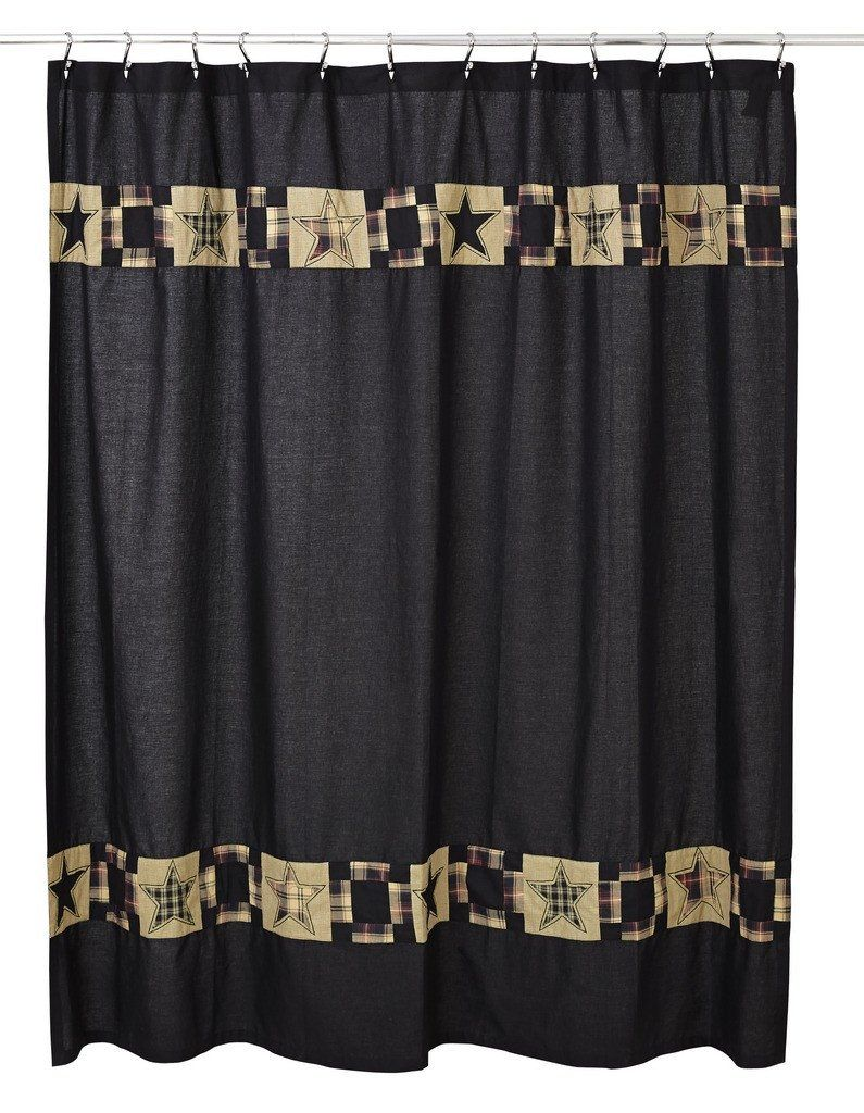 Revere Shower Curtain | Black shower curtains, Black shower and ...
