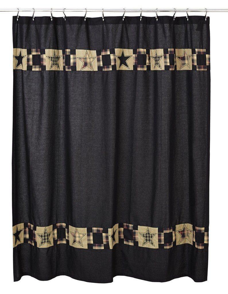 Patchwork Star Shower Curtain