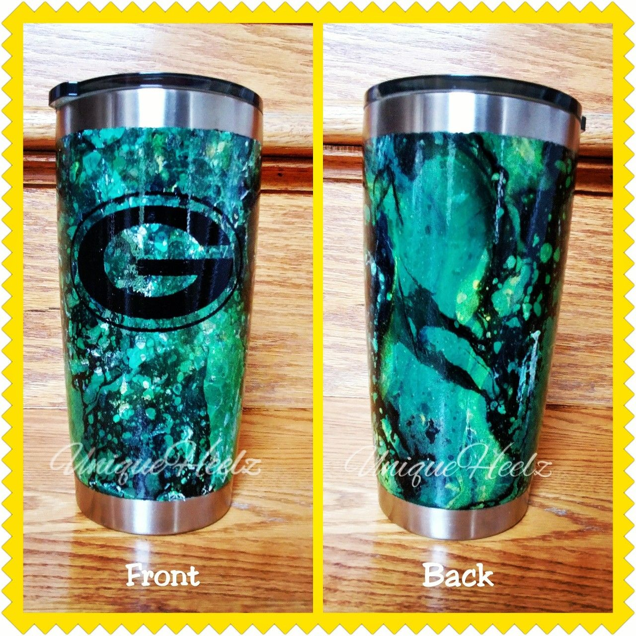 Hydro Dipped Custom Green Bay Packers 20oz Ozark Tumbler Paint Dipping Diy Tumblers Ozark Tumbler