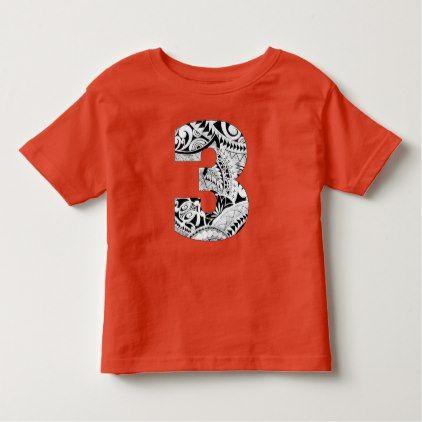 3rd Birthday Boy Tropical Luau Shirt