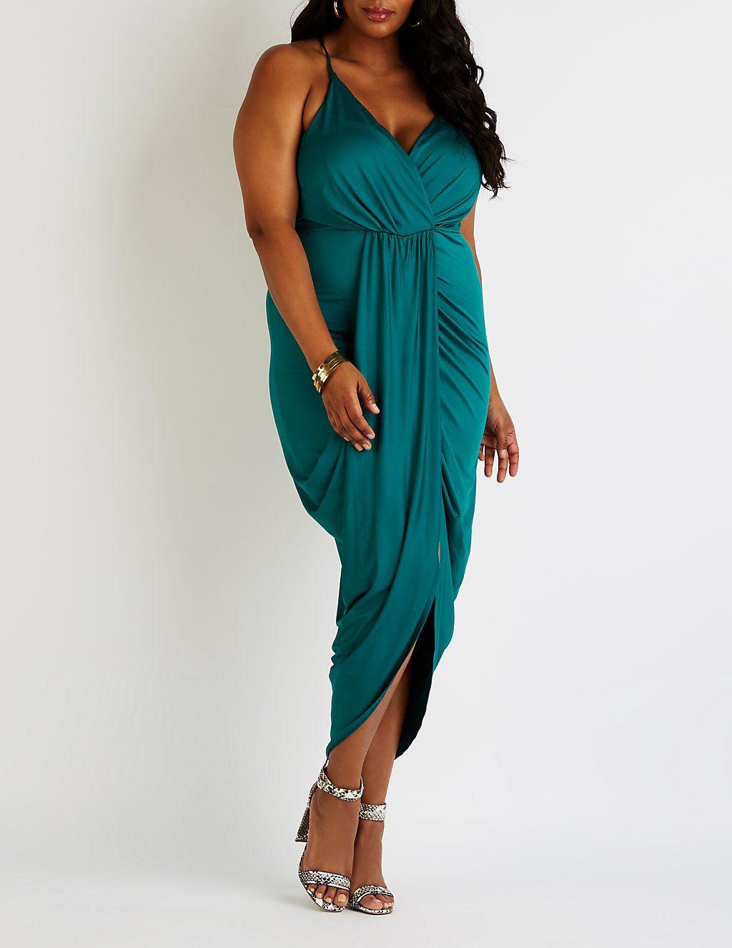 Plus Size Wrap Maxi Dress | Junior maxi dresses, Maxi wrap ...