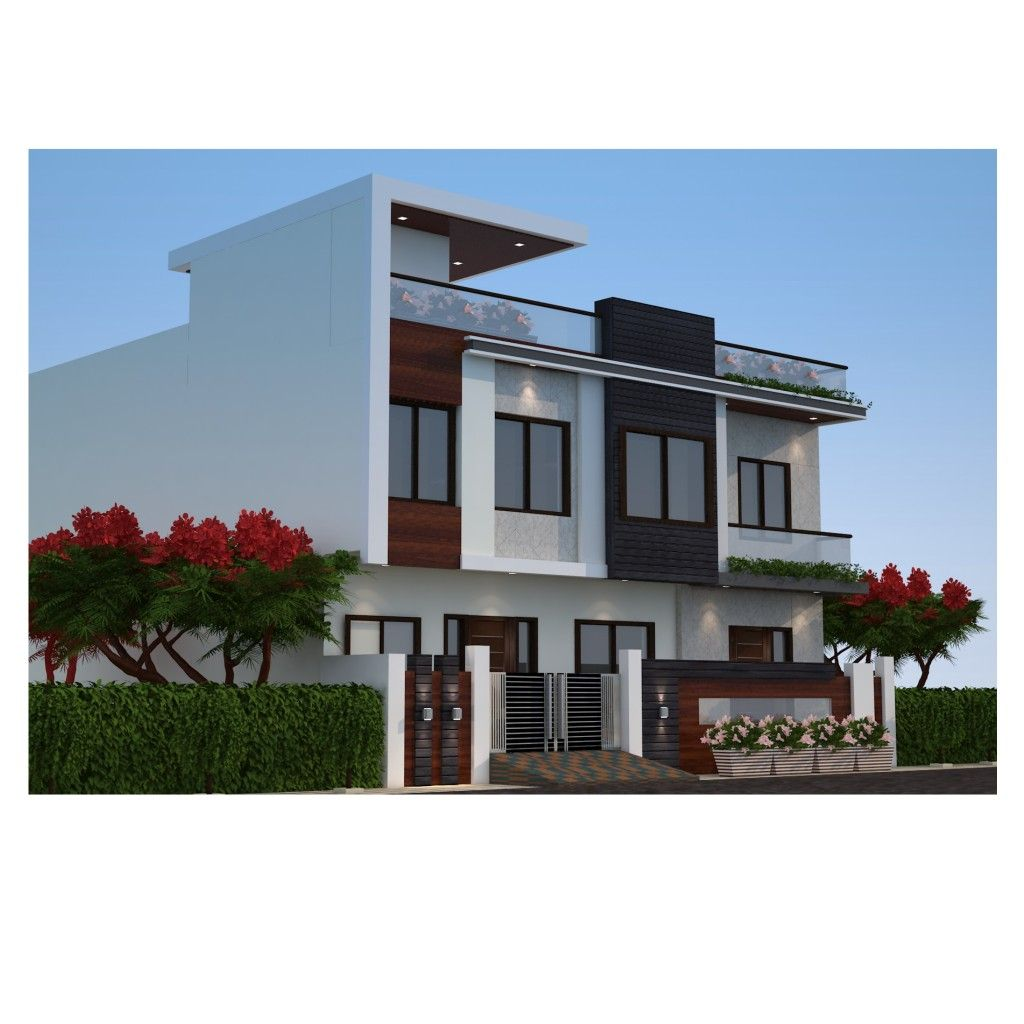 Exterior design of a two floor house residence elevation
