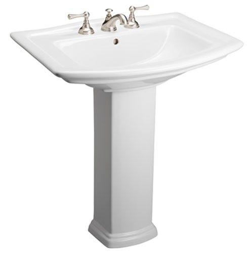 Pegasus Washington 550 Vitreous China Pedestal Bathroom Basin Combo In At  The Home Depot