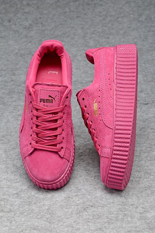 c8530b9c8 Womens Puma Creepers Fenty by Rihanna Suede Creeper All Pink Fashion  Sneakers Shoes Tenis Da Moda