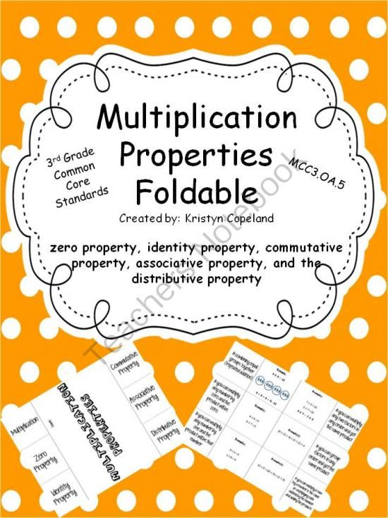 multiplication properties foldable from copeland 39 s got class in 3rd on 5. Black Bedroom Furniture Sets. Home Design Ideas