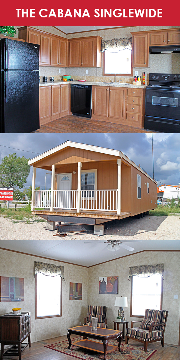 The Cabana Singlewide 1 Bedroom 1 Bathroom 607 Sqft Oklahoma Texas Newmexico Rbi36609 Manu Manufactured Home Modular Homes Manufactured Homes For Sale