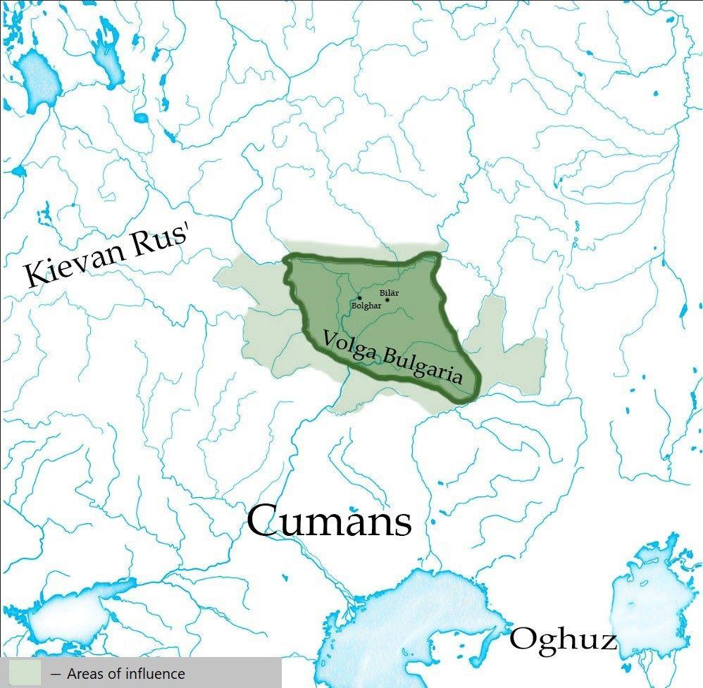 Volga Bulgaria C 1200 Landkarte Karten Planer