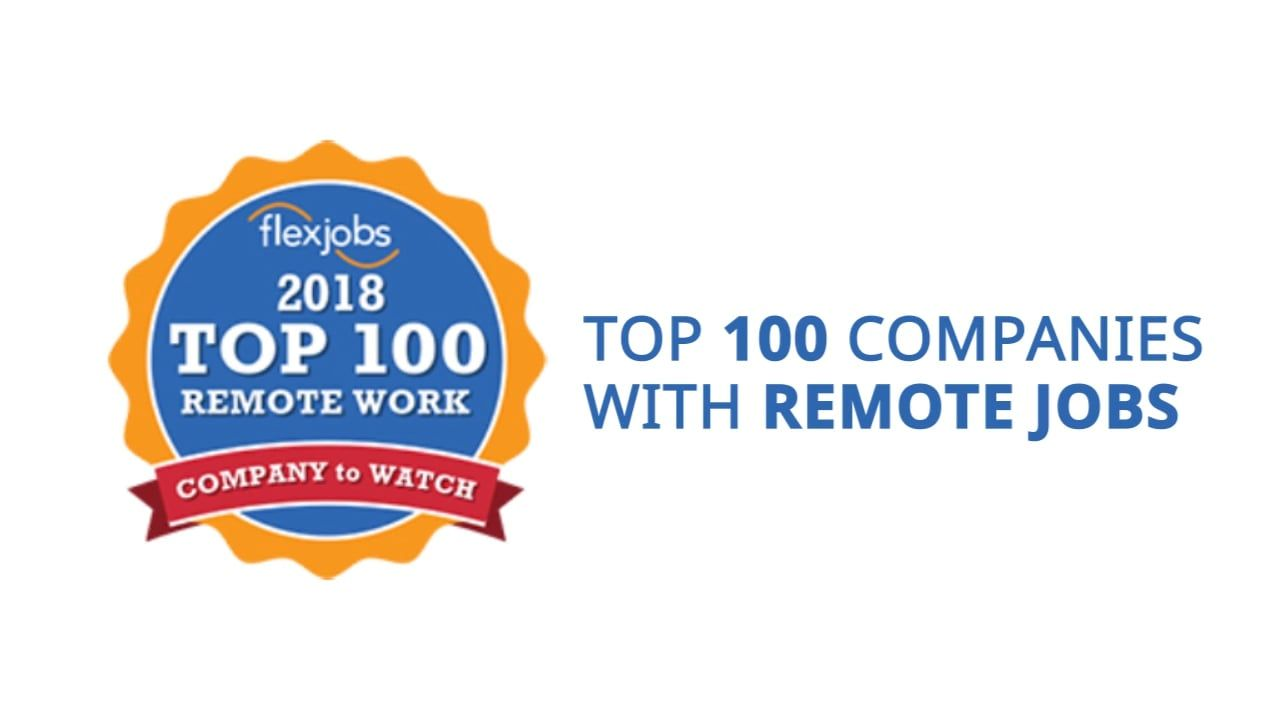 Top 100 Companies With Remote Jobs In 2018 Remote Jobs Online