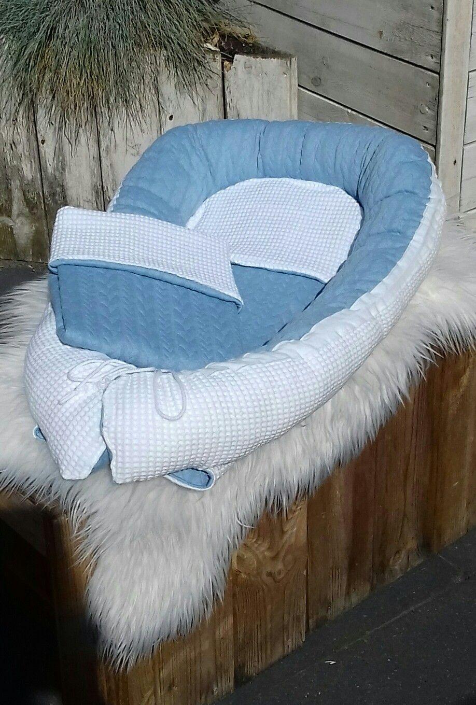 Blauw/wit babynestje 💞