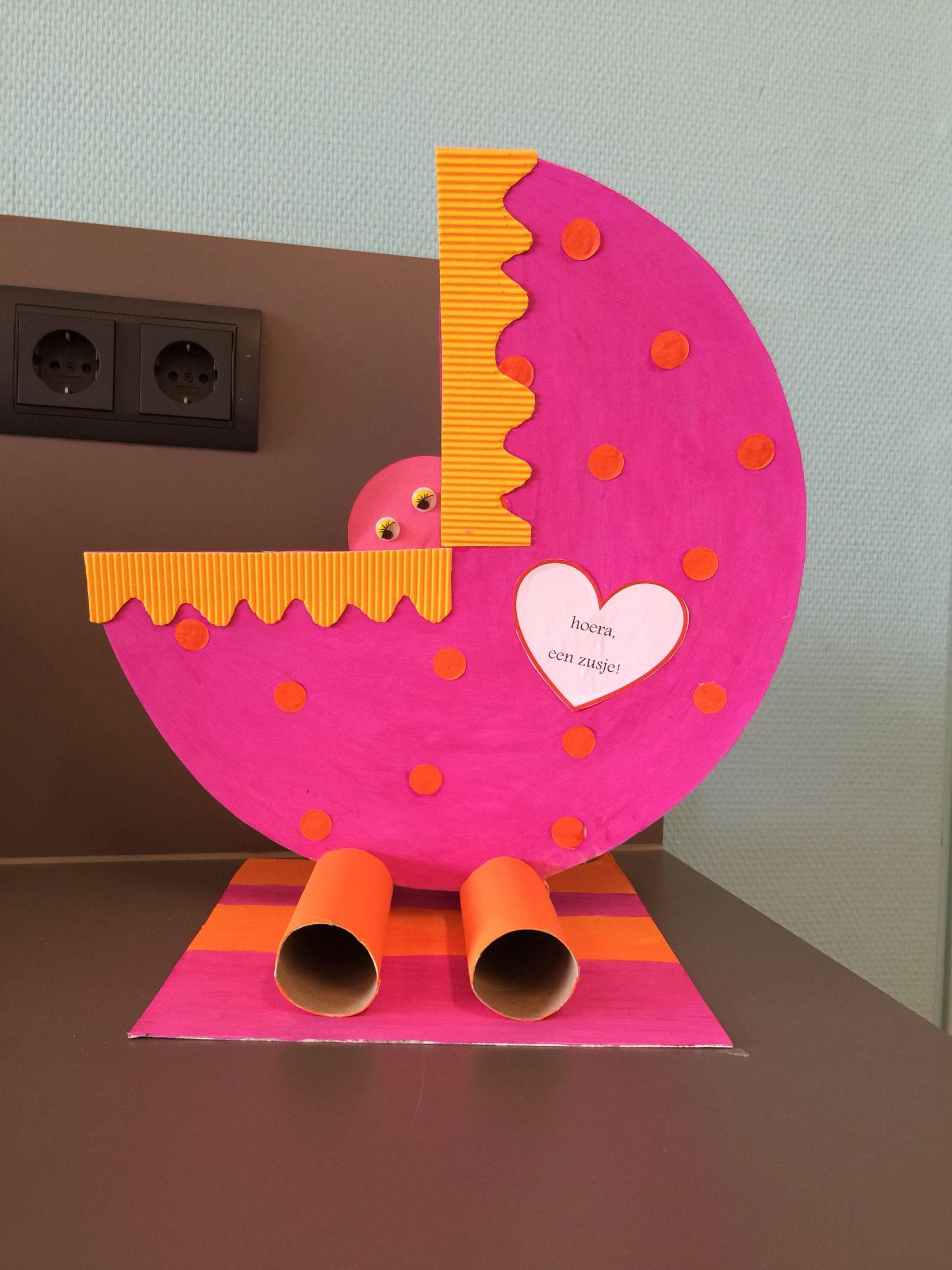 Knutselwerkje gemaakt voor pasgeboren zusje van een leerling :)