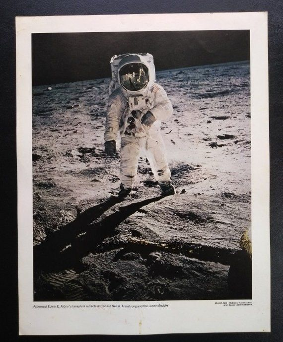 Footprints On The Moon Original Apollo 11 Rare Poster Movie Memorabilia Originals-united States