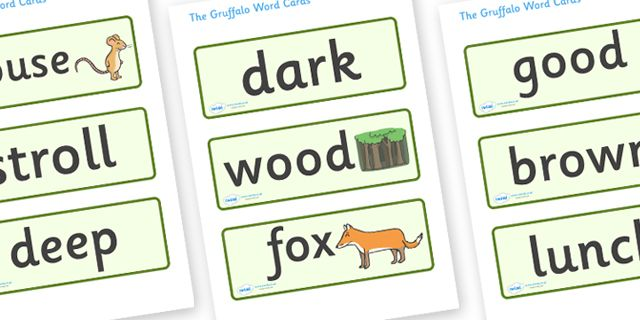 Twinkl Resources The Gruffalo Word Cards Thousands Of