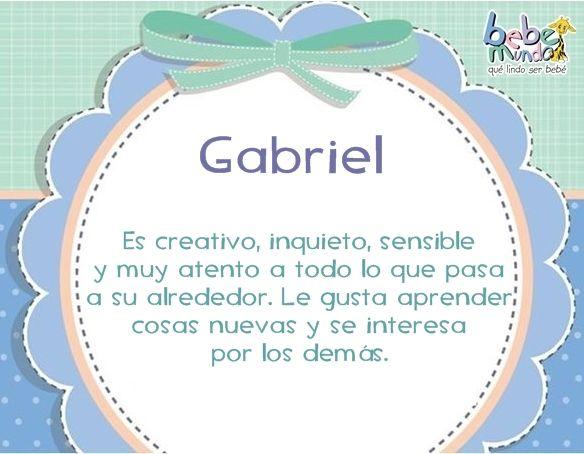 Gabriel Gabriel Nombre Nombres De Bebes Significados De Los Nombres