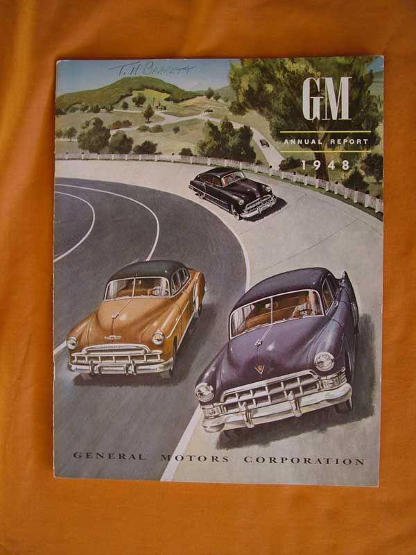 Gm Annual Report 1948 Annual Report General Motors Corporation Report