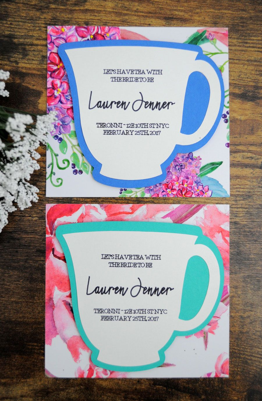 DIY Bridal Shower Tea Party Invitations, circuit machine