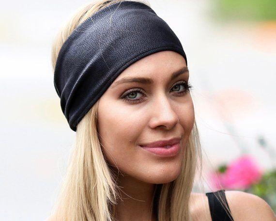 Leather Headband Vegan Turban Headband 80s Headband Ear Warmer Fall Fashion  Women s Headband Boho Ch cae840c1e6b3