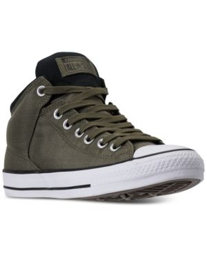 93ad63b2a0d7 Converse Men s Chuck Taylor All Star High Street Casual Sneakers from  Finish Line - Green 11.5