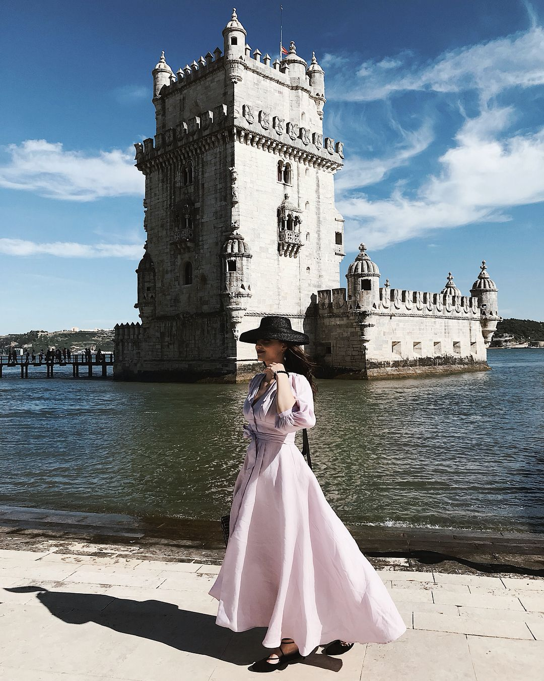 Windy Day Visit To Torre De Belem Wearing Behida S First Clothing Design Piec One Clothing Clothes Design Beautiful
