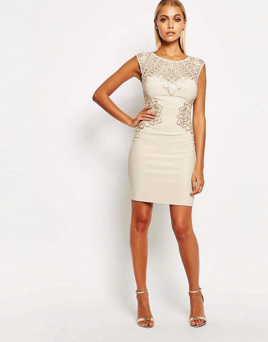 Lipsy Flat Sequin Bodycon Dress | Figurbetontes kleid ...